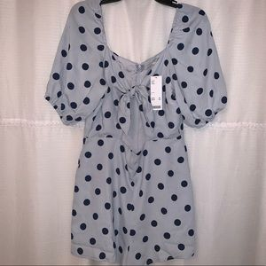 Urban outfitters, polka dot tie-front Romper!